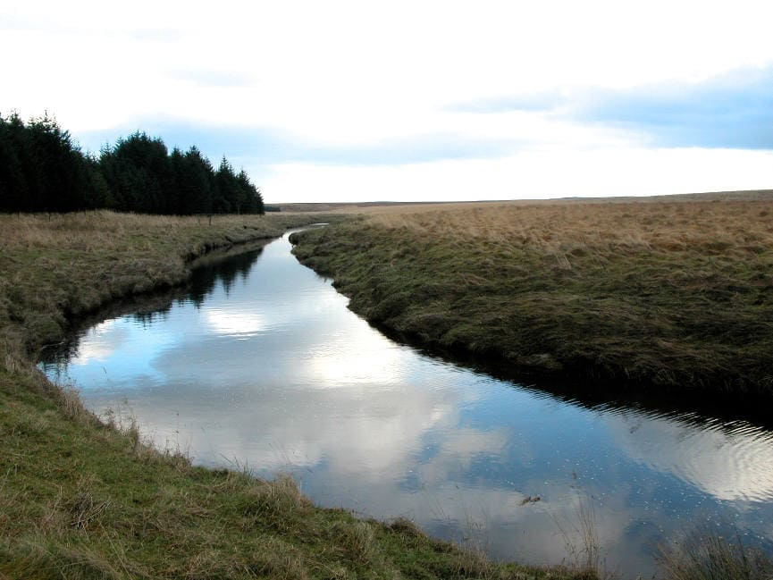 River Irthing on the moors.