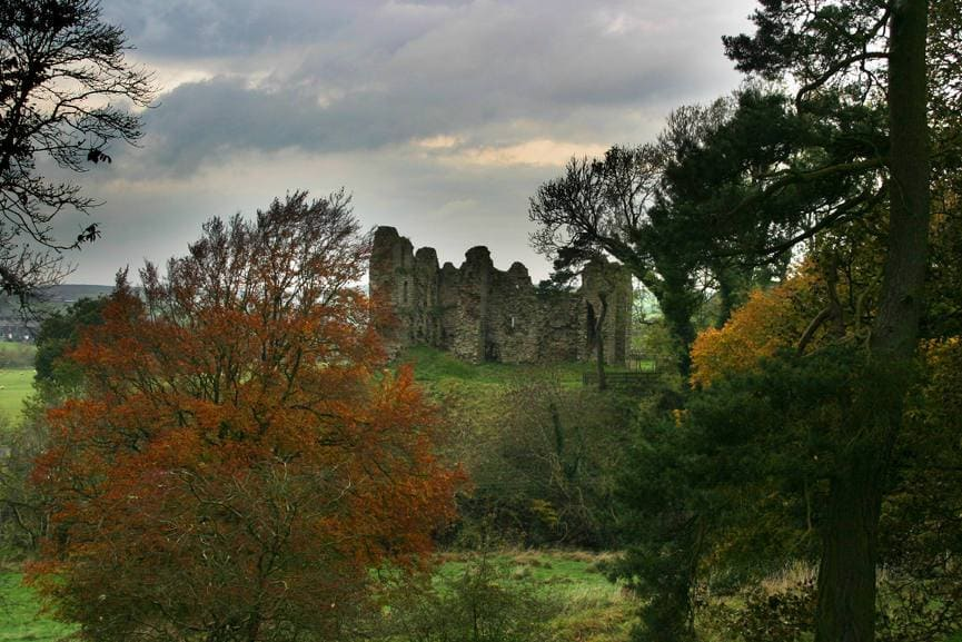 The exposed interior of Thirlwall Castle